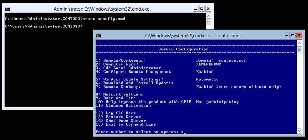 آموزش پیکربندی محیط Server Core 2008R2، با استفاده از دستورات کاربردی