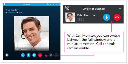 منوی تماس های skype