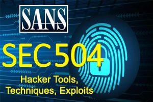 Hacker Tools) SANS SEC 504)