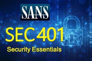 Security Essentials) SANS SEC 401)